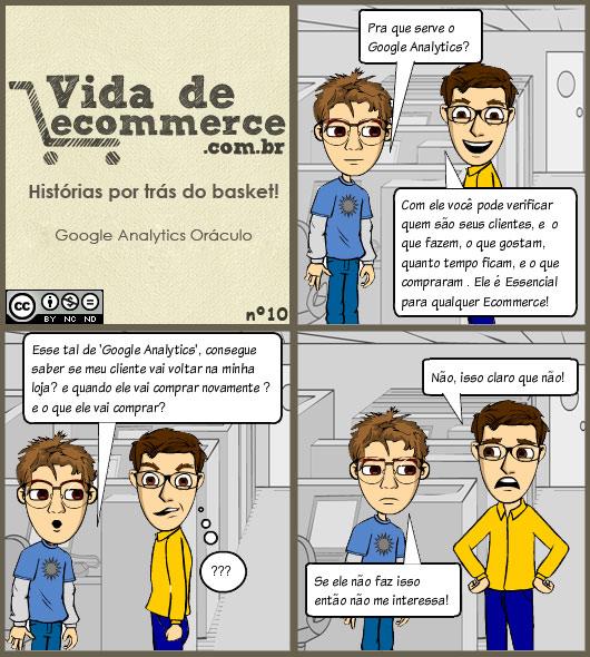 Vida de Ecommerce - Tirinha Google Analytics Oráculo